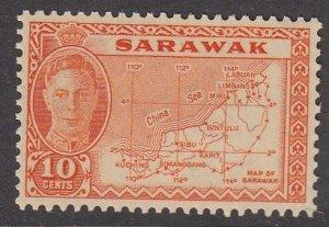 Sarawak 195 Map mnh