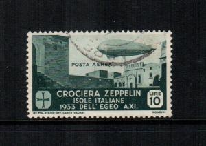 Italy  C22 used cat $ 450.00 aegean islands