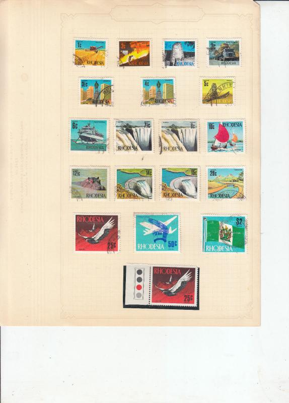 RHODESIA 1970 SET TO $2 USED +25C UMM WITH TRAFFIC LIGHT