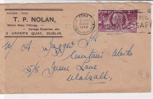 Ireland Eire 1948 TP Nolan Motors Make The Roads Safe Slogan Stamp Cover Rf34947
