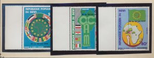 Benin Stamps Scott #434 To 436, Mint Never Hinged