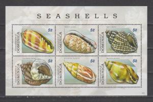 Dominica 2009 seashells shells marine life klb MNH