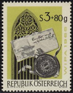Austria - 1965 - Scott #B318 - used - Writing Letter