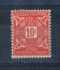 Sudan French J12 MLH Numeral 1931 (S0836)+