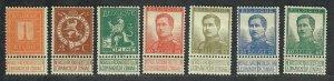 $Belgium Sc#92-98 M/H, short set, Cv. $35.50