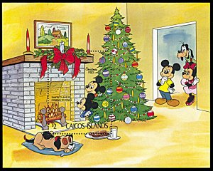 Caicos Islands 31, MNH, Disney Christmas 1983 souvenir sheet