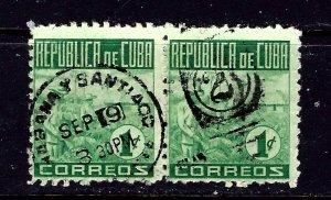 Cuba 420 Used 1948 Pair