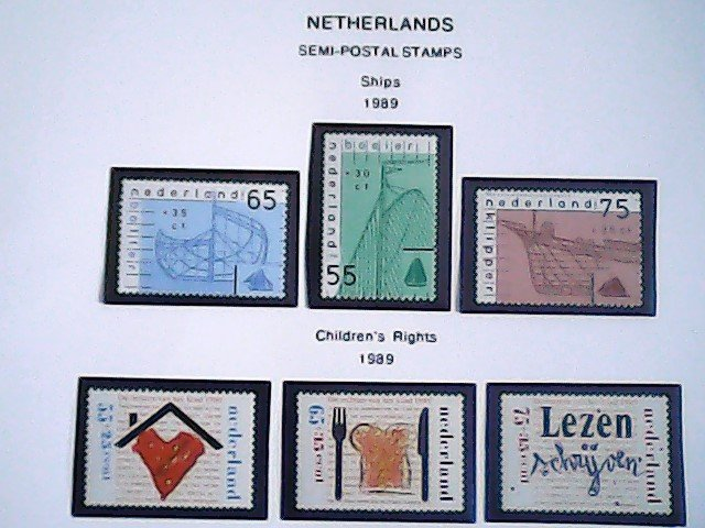1989-90 Netherlands Semi-Postal Stamps  MNH  full page auction