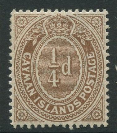 Cayman Islands - Scott 31 - Shield -1908 - MNH - Single 1/4d Stamp