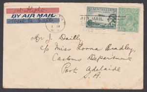 AUSTRALIA 1929 First flight cover Perth to Adelaide...................N659