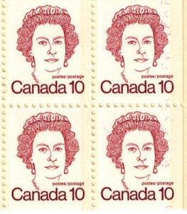 Canada BK76 booklet error Repeating 10