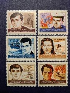 Albania 1777-1782 XFNH complete set, CV $5.65