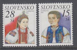 Slovakia 452-453 Costumes MNH VF