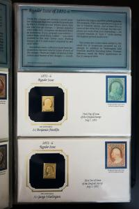 US Collection of 22kt Golden Stamp Replicas