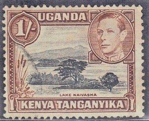 KUT SC# 80A  **USED**  1938-54 1sh  LAKE NAIVASHA SEE SCAN