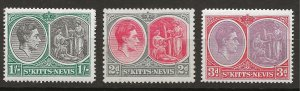 Saint Kitts-Nevis 71, 73, 75 Scott 82, 84, 86a MNH VF 1938 GCV £72 (jr)