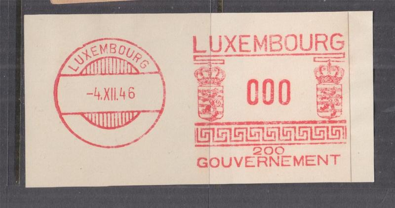 LUXEMBOURG, Meter,1946, Safag, Government, 200, Proof strike on piece, 000
