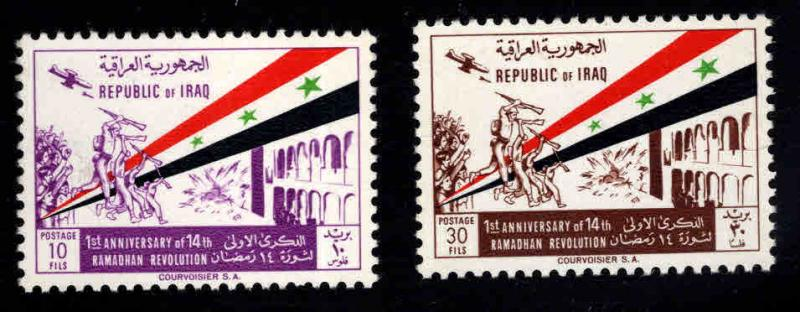 IRAQ Scott 342-343 MH*  1964 Flag set