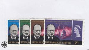 BRITISH ANTARCTIC TERRITORY # 16-19 VF-MNH WINSTON CHURCHILL CAT VALUE $49.95