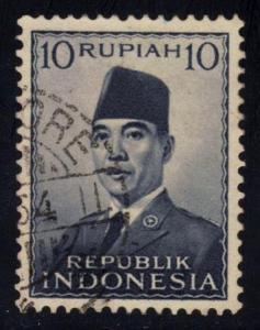 Indonesia #395 Pres. Sukarno, used (0.20)
