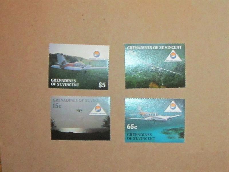Grenadines of St. Vincent - 591-94, MNH Set. Aircraft.. SCV - $1.65
