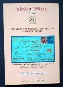 Auction Catalogue JAN DE LAET 400 YEARS POSTAL HISTORY OF ANTWERP Belgium