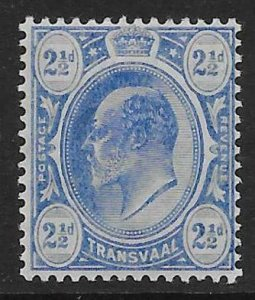 TRANSVAAL SG276 1909 2½d BRIGHT BLUE MTD MINT