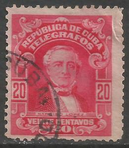 CUBA TELEGRAPH 1910 VFU Z1145