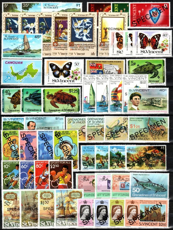 Worldwide  Lot-  St Vincent Specimen Collection MNH  (X7492)