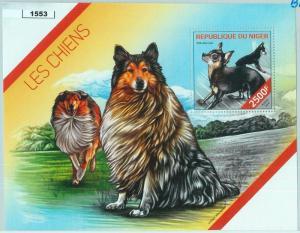 1553 - NIGER - ERROR, 2014 MISSPERF SHEET: Dogs, Rough Collie