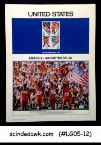 UNITED STATES USA - 1984 OLYMPIC MENS 4 X 400 M RELAY PANEL MNH
