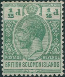 Solomon Islands 1914 SG22 ½d green KGV MLH