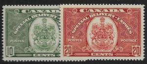 CANADA SGS9/10 1938-9 SPECIAL DELIVERY ISSUE MTD MINT