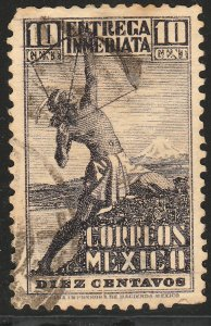 MEXICO E4, 10cts Archer. Special Delivery, USED. F-VF. (784)
