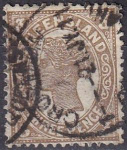 Queensland #134 F-VF  Used CV $3.00  (A19139)