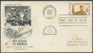 United States, District of Columbia, First Day Cover, Scouts