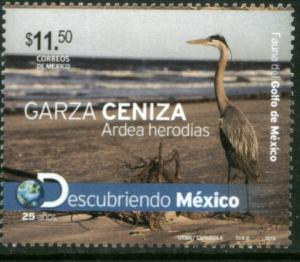 MEXICO 2725, Ardea Herodias Heron. MINT, NH. VF.