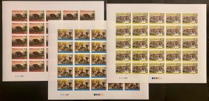 Stamps Full Set in Sheets Wild Animals (camel/cheetah) Imperf. Djibouti 1987