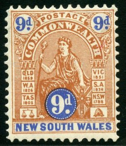 AUSTRALIAN STATES NEW SOUTH WALES SCOTT#108 MINT HINGED