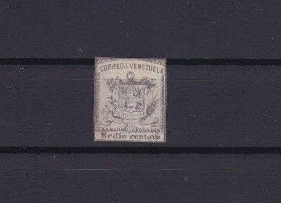 VENEZUELA 1862 IMPERF STAMP ½ CENTAVO MOUNTED MINT  CAT £31  REF 6303