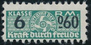 Stamp Germany Revenue WWII Fascism War Era FDF Kraft Durch Freude 6060 MNG