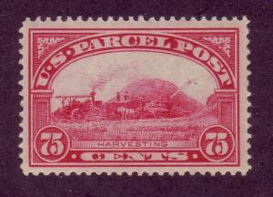 Q11 Unused,  75c. Parcel Post,  scv: $85