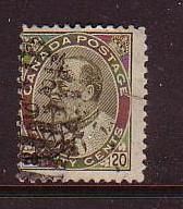 Canada Sc94 1904 20c Edward VII stamp used