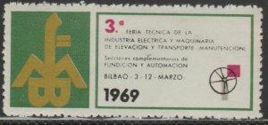 Bilbao Fair 1969 Cinderella Poster Stamp Reklamemarken A7P5F840