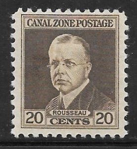 Canal Zone 112: 20c Adm Rousseau, MH, F-VF