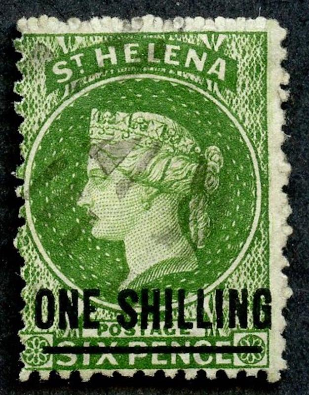St. Helena, Sc# 16, Used.  Perf. 12.5 with 17mm bar.  2017 SCV $35.00