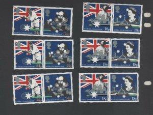 Australian Stamps MNH 1988 GB 4set bicentenary of Australia 18p & 34p SG136-9 (B