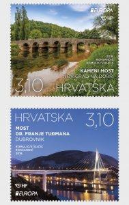 2018 Croatia Bridges Europa (Scott 1069-70) MNH