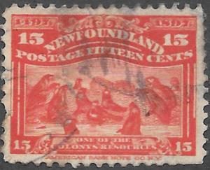 Newfoundland Scott Number 70 F Used