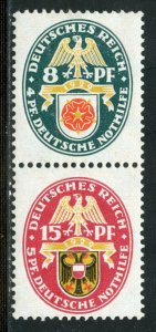 GERMANY SE-TENANT CONFIGURATION MICHEL#S68  MINT LIGHT HINGED
